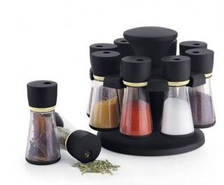 Battlane 8-Jar Revolving Spice Rack