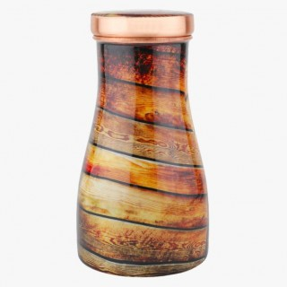 Copper Bed Side Bottle with Inbuild Glass, New Design