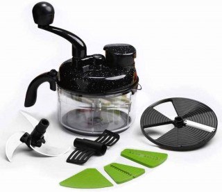 Battlane Turbo Dual Speed Food Processor, Black