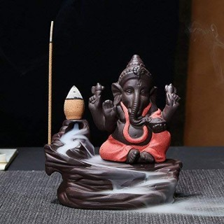 Battlane Ganesha Smoke Backflow Cone Incense Holder