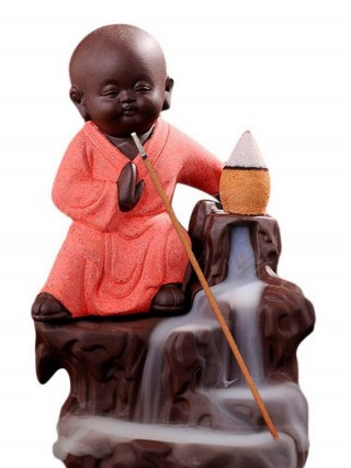 Battlane Karate Style Buddha Smoke Backflow Incense Holder with 10 scented cone