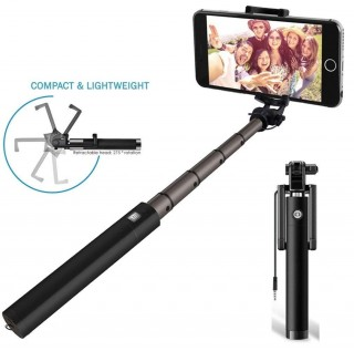 Battlane Compact Wired Selfie Stick for iPhone and Android