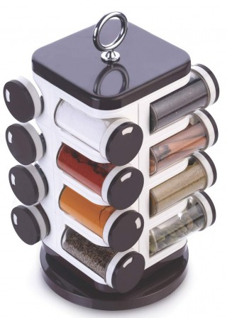 Battlane Revolving Spice Rack set (16 pieces)
