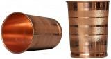 Battlane Copper Jug with 2 Glass (1500Ml of Jug, 350ML of Each Glass)