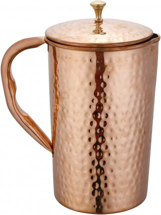 Battlane Hammered  Copper Water Jug Pitcher- 1500 ml