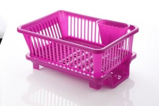 Battlane Kitchen Sink Dish Drainer Drying Rack Washing Holder Basket