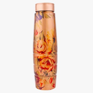 Printed Copper Water Bottle - 1 Litre