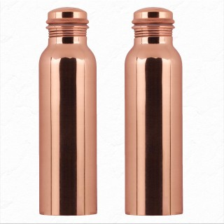 Pure Copper Bottle 1 litre (Pack of 2)