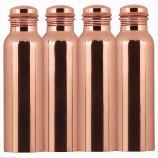 Pure Copper Bottle 1 litre (Pack of 4)