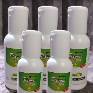 Herbal Hand Sanitizer with Lemon - Germ Protection (Pack of 5)